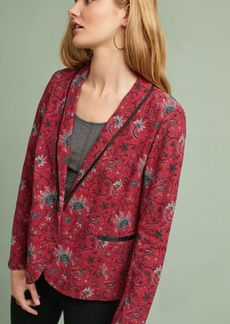 Piped Floral Blazer