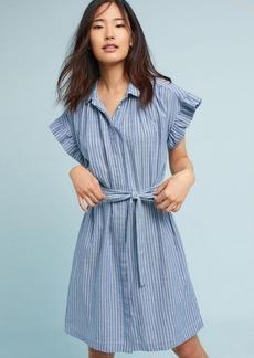Piper Flutter-Sleeve Shirtdress