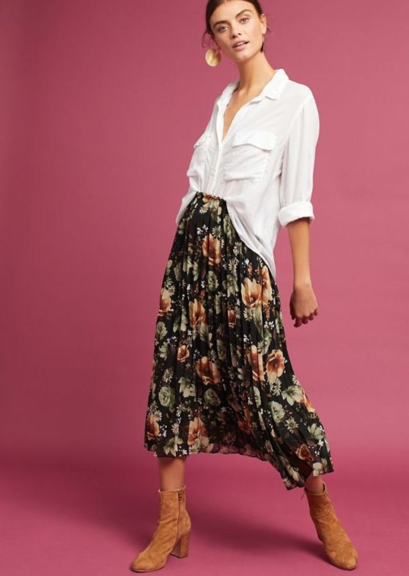 a77f779a8d Anthropologie Pleated Floral Skirt | Skirts