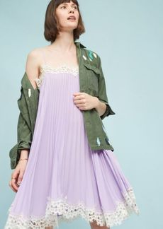 Anthropologie Pleated Slip Dress