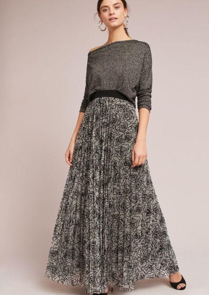 b916bc41d2 Anthropologie Pleated Velvet Maxi Skirt   Skirts