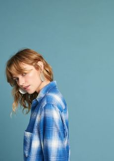 Pocketed Flannel Buttondown