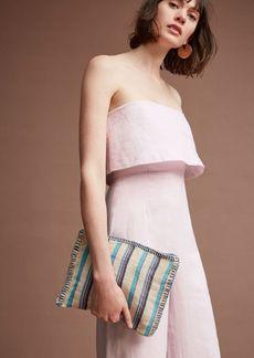 Anthropologie Popover Linen Jumpsuit