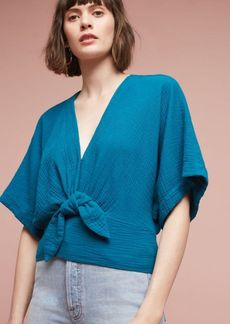 Anthropologie Raeka Tie-Waist Kimono Blouse
