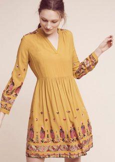 Anthropologie Raella Embroidered Tunic Dress