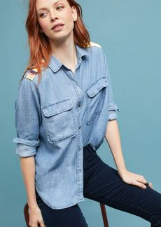 Rails Embroidered Chambray Buttondown