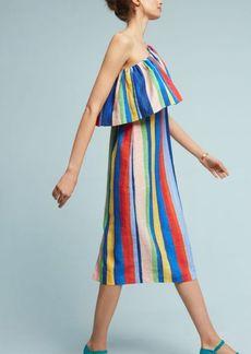 Anthropologie Ray Linen Midi Dress