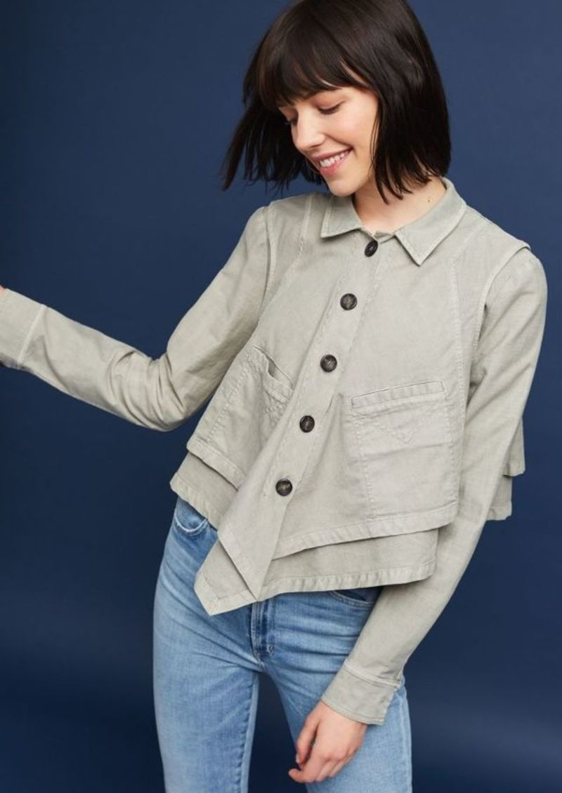 Anthropologie Renley Handkerchief Jacket