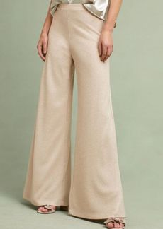 Anthropologie Ribbed Shimmer Wide-Legs