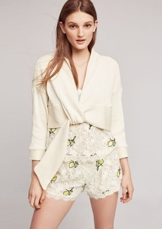 Anthropologie Ribbed Tie-Front Cardigan