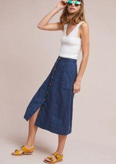 Anthropologie Riverine Midi Skirt