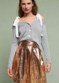 Anthropologie Rose Gold Mini Skirt