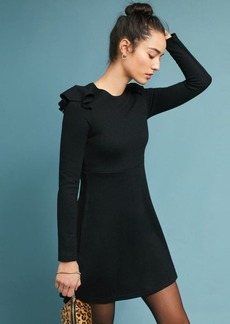 Anthropologie Ruffled Knit Dress