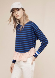 Anthropologie Ruffled Rugby Pullover