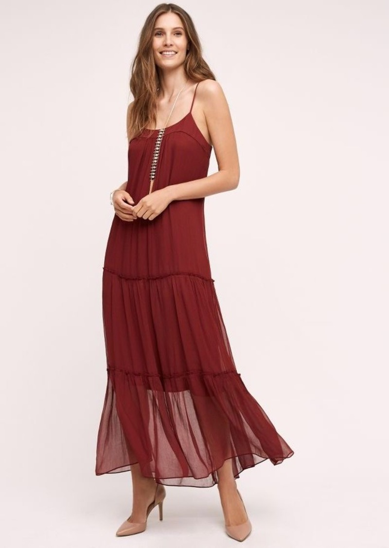 Anthropologie Saffa Chiffon Maxi Dress