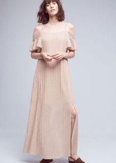 Anthropologie Sahara Open-Shoulder Maxi Dress