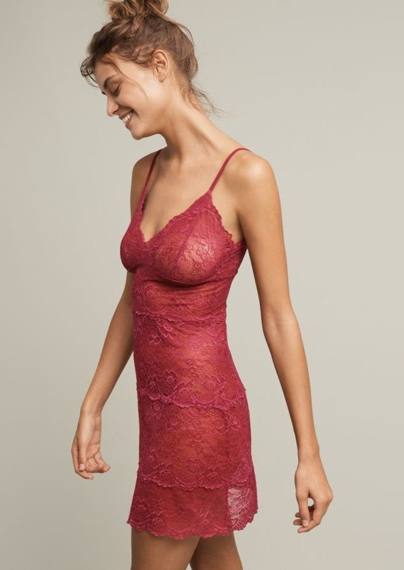 Anthropologie Samantha Chang Lace Chemise