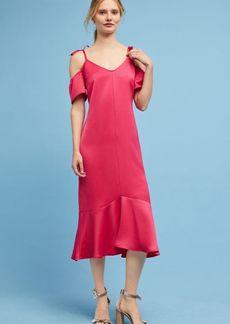 Satin Open-Shoulder Dress