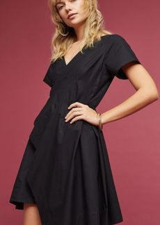 Anthropologie Seamed Poplin Dress