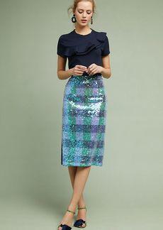 Anthropologie Sequined Palette Midi Skirt