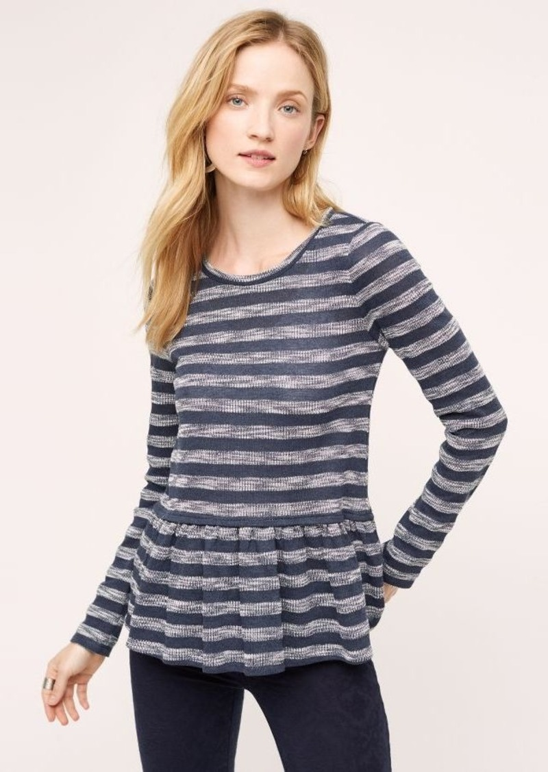 Anthropologie Sherbrooke Peplum Top