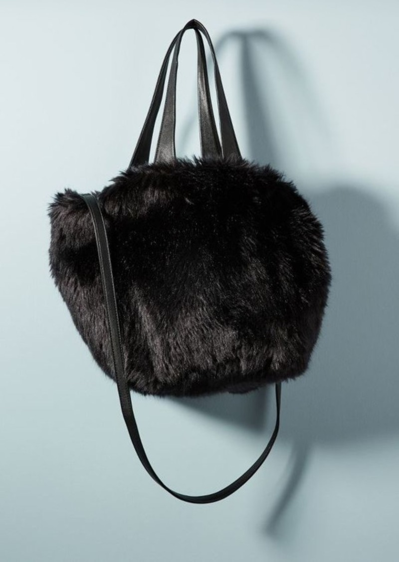 On Sale today! Anthropologie Shimmer Faux Fur Tote Bag 6ab84a06665e9