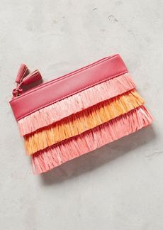 Anthropologie Shiraleah Allegra Fringed Pouch