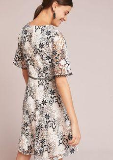 Shoshanna Flutter-Sleeve Dress