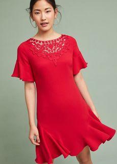 Shoshanna Ruby Ruffled-Sleeve Dress