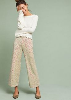 Anthropologie Showstopper Sequined Wide-Legs