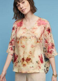 Anthropologie Silk Painterly Blouse