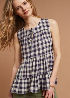 Skirted Gingham Top