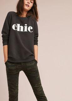 Anthropologie Sol Angeles Chic Graphic Sweatshirt