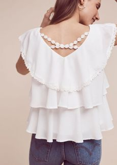 Anthropologie Solenne Tiered Blouse