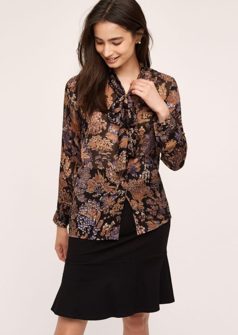 Anthropologie Stemwood Silk Blouse