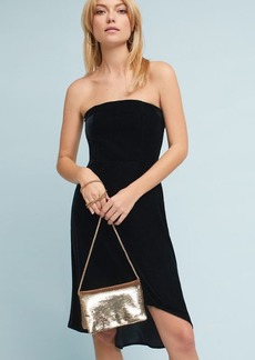 Strapless Velvet Petite Dress