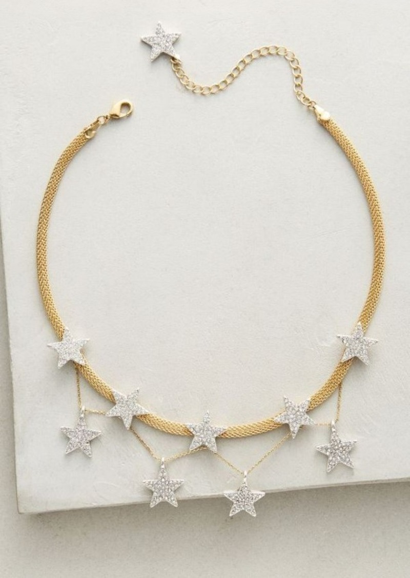 Anthropologie String of Stars Choker