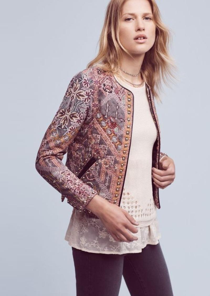 Anthropologie Studded Quilt Jacket