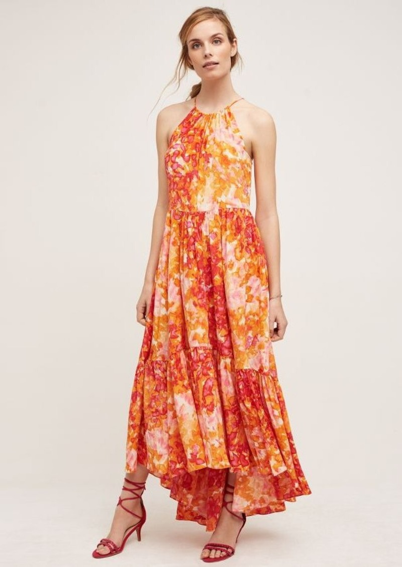 Anthropologie Sunflower Silk Dress