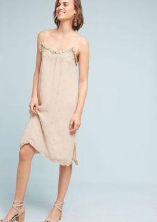 Anthropologie Suri Beaded Slip Dress