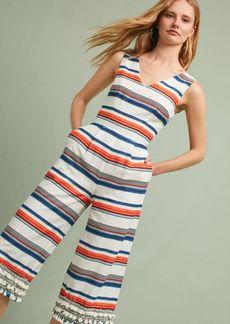 Tasseled & Striped Jumpsuit