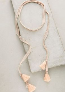 Anthropologie Tasseled Wrap Necklace