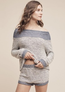 Anthropologie Terry Off-The-Shoulder Top