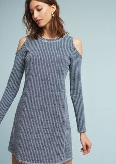 Textured Knit Open-Shoulder Dress
