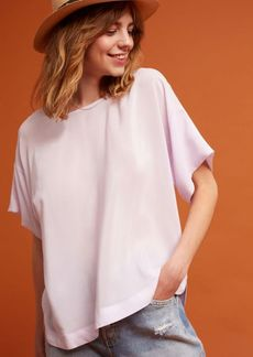 Anthropologie Textured Silk Tee