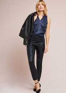 Anthropologie The Essential Foil-Printed Tuxedo Trousers