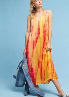 Tie-Dyed Silk Maxi Dress