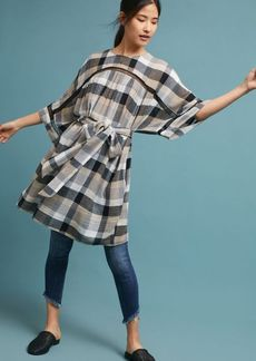 Anthropologie Tie-Waist Kimono Tunic Dress