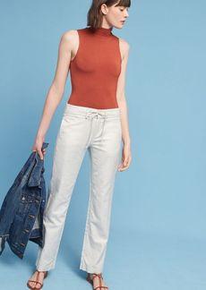 Anthropologie Tie-Waist Linen Trousers