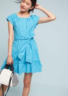 Tiered Poplin Swing Dress